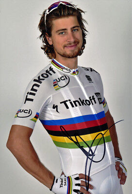 Peter Sagan - Autographed - Signed 8X12 inches 2016 Tinkoff Tour De France Photo