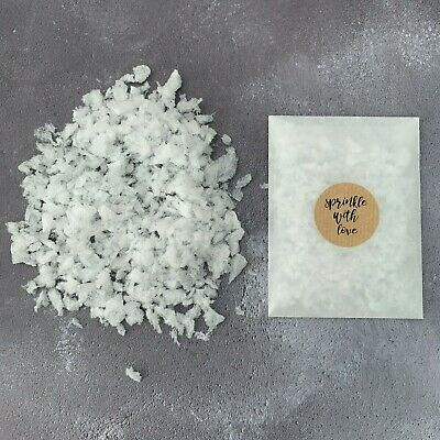 50 Real Petal Natural Wedding Confetti Bags White Snow Biodegradable Throwing