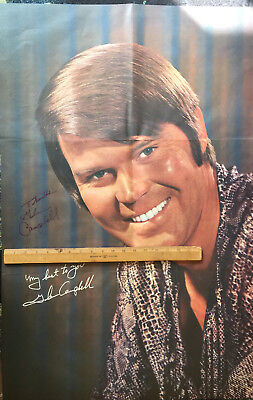 Glen Campbell Autograph He Signed 24X36 Poster From His Record Album