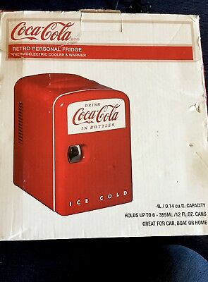 Coca Cola Retro Personal Fridge, Thermoelectric Cooler & Warmer