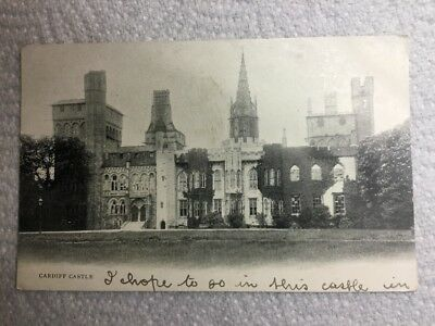 Old Postcard - Cardiff Castle, 1903