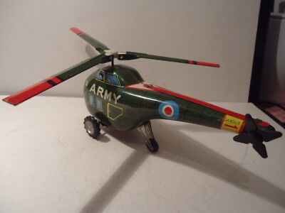 Vintage Marx Toys Tin Plate Helicopter In Good Condition