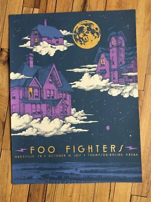 Foo Fighters Concert Poster Knoxville TN 10/18/2017 Tennessee Gig Poster Print