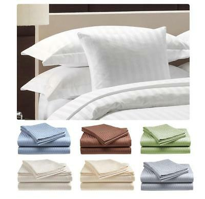 Bed Sheet Set 100 Cotton Sheets Queen Size Deep Pocket Fitted