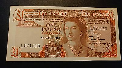 1988 Government of Gibraltar £1 Pound Note UNC