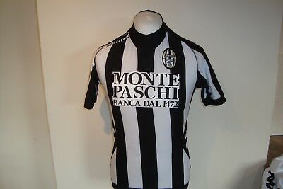Rare Siena Home Football Shirt Kappa - Age 14 Years