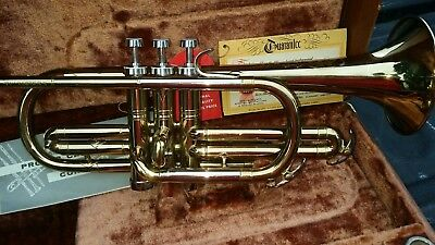 Vintage CONN CORNET Stars Brass 50's DIRECTOR  w/ Case ALMOST MINTY