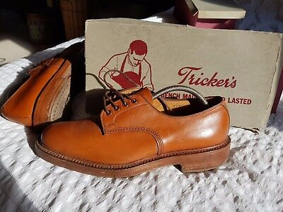 2 pairs Mens Hand MadeTrickers Shoes brown leather Size 9