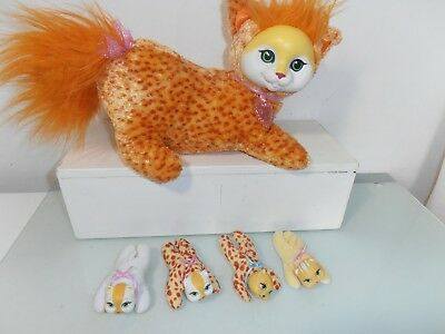 Kitty  Surprise ginger Cat and Four Kittens