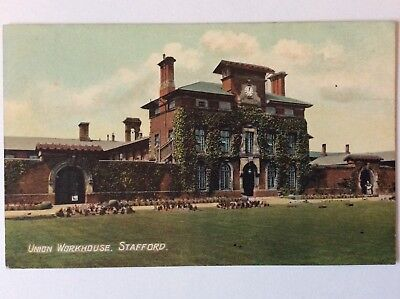 vintage postcard, Stafford, Stafford Union Workhouse, early view