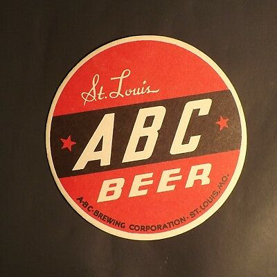 Vintage ABC Beer Coaster - St. Louis, MO - No Reserve!