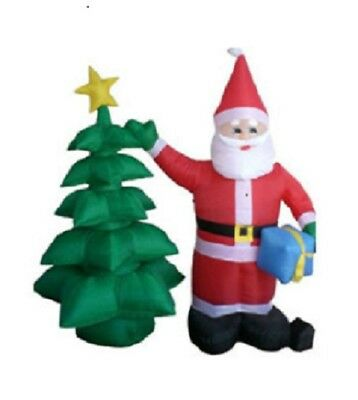 2m (6feet) Inflatable Life Size Santa and Tree