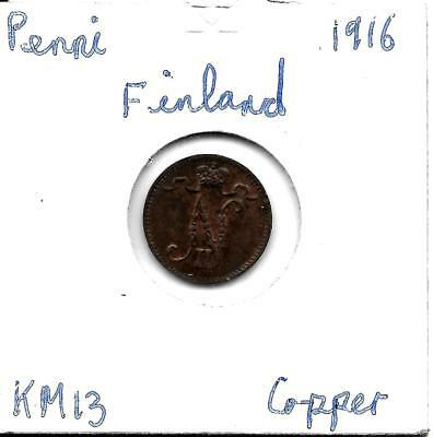Finland   Penni 1916   KM13 With Lustre!