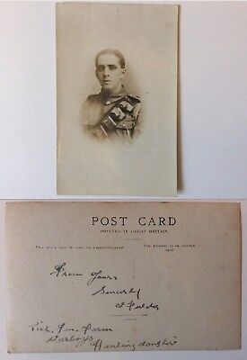 vintage postcard, WW1, Soldier, Artiliery, Warboys, Huntingdon address