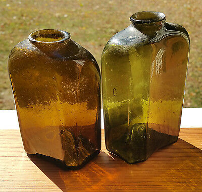 PAIR of EARLY 19th Century SNUFF bottles / jars!