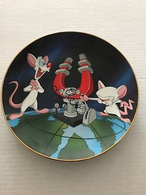 Pinky and The Brain 1995 Warner Bros Store Exclusive Collector Plate.196 Of 2500