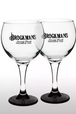 Brockmans Gin Balloon Glass X 2 New
