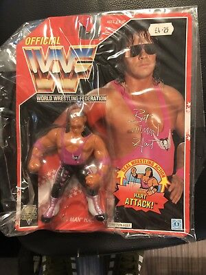 Wwf Hasbro Red Series Bret Hitman Hart Moc Hard To Find Grab A Bargain.