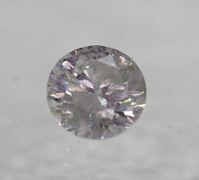 Certified 0.60 Carat E Color Round Brilliant Enhanced Natural Diamond 5.36mm 3VG