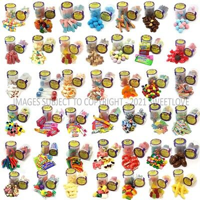 SWEET VENDING REFILL 81 X 53mm POTS: 9 X 9 RANDOM PACK INCLUDING ALL LABELS.