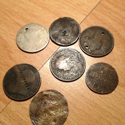 Joblot of 7 x  Queen Victoria Silver? Early Coins - See pictures