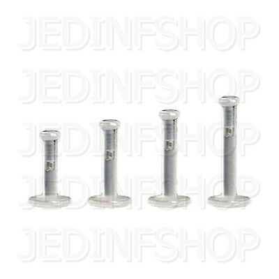Retainer - Labret Lip Stud - 1.2mm (16g) - 6mm 8mm 10mm 12mm - Push In Push Fit