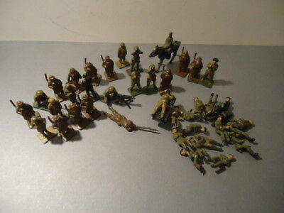 VINTAGE 30mm BRITISH SOLDIERS - JOB LOT OF 41 DINKY & SIMILAR FIGURES