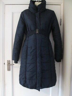 Lovely Size 12 Navy Mamalicious Maternity Coat See Pics!!