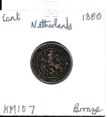 Netherlands  Cent 1880  KM107