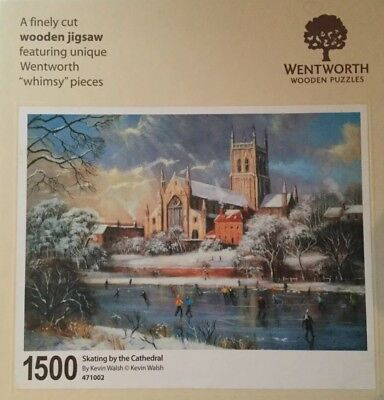 Wentworth Wooden Jigsaw, Whimsy, Skating by the Cathedral, 1500 pieces