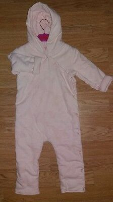 Ted Baker Girls 18-24 Mths Suit / Snowsuit Pink Padded
