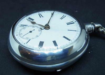 A Working English Silver Fusee Pair Case Pocket Watch Ref Cut493