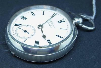 A English Silver Cased Benson Of London Open Faced Pocket Watch Ref Whit299k