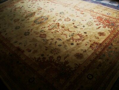 Extra Large PERSIAN Wool Rug GOLD