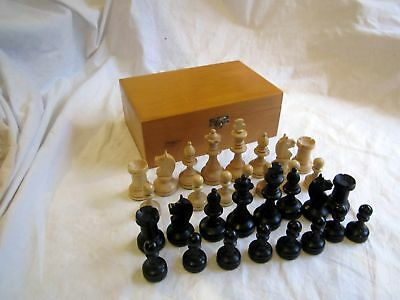 A Nice Wooden Chess Pieces Box