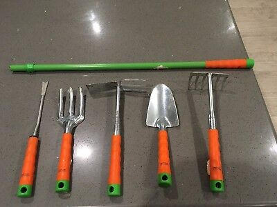 Set 5 Hand Garden Tools with handle extender