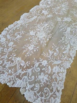 Beautiful Antique Victorian Brussels Lace Shawl