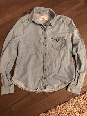 Girls Denim Style Shirt Age 10 Years From New Look