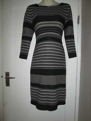 Pretty Size 16-18 Jojo Maman Grey Maternity Jumper Dress See Pics!!