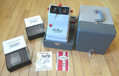 Airequipt Stereo Theater Viewer with Case, (2) Magazines, Power Cartridges, More
