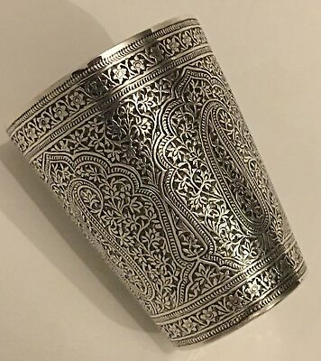 Superb Antique Islamic Persian Indian Kashmir Silver Beaker/ Cup