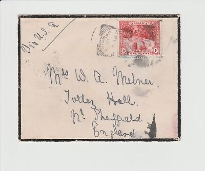 Jamaica Small Single Rate Mourning Cover with Squared Circle from May 12th 1900