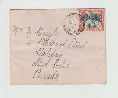 Jamaica Small Single Rate cover to Nova Scotia from Port Royal dated 26/12/1901