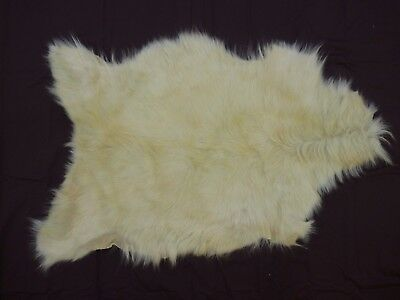 Luxury quality Long Hair goat skin hide fur pelt rug new clean soft and fluffy