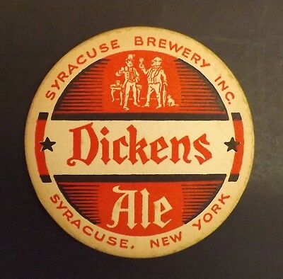 Vintage Dickens Ale Beer Coaster -  Syracuse, NY New York - No Reserve!