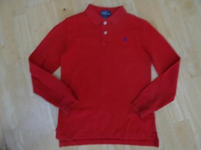 RALPH LAUREN POLO boys red long sleeve top AGE 7 YEARS AUTHENTIC