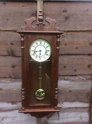 Vintage Antique Style Hermle Westminster Chime Wall Clock Working See Video