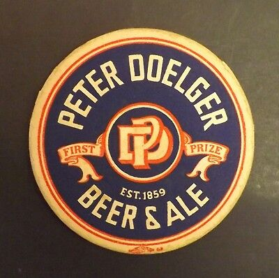 Vintage Peter Doelger Beer Coaster -  Harrison, NJ - No Reserve!