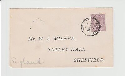 Jamaica Small Kingston single ring CDS ties stamp to cover dated 13/03/1900