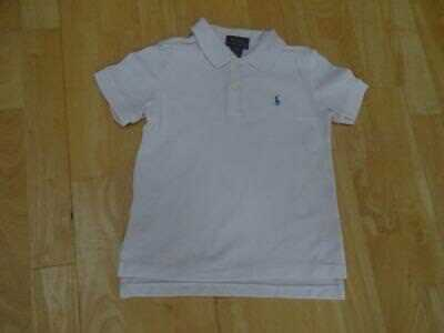 RALPH LAUREN POLO boys white designer t shirt AGE 2-3 YEARS 3T AUTHENTIC